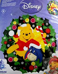 Janlynn Disney Pooh & Eeyore Wreath Felt Applique Kit