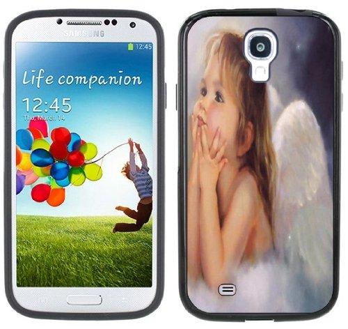 Angel Baby Girl Handmade Samsung Galaxy S4 Black Bumper Hard Plastic Case front-180853
