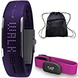 Polar - Loop Activity Tracker with Pink H7 Heart Rate Sensor M-XXL and Bag - Purple
