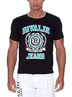 Rivaldi Camiseta Manga Corta Mijori (Negro / Azul)