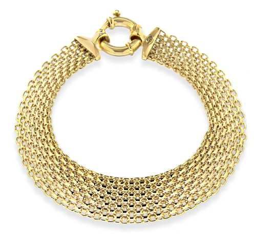 9ct Yellow Gold Bismark Bracelet 19cm/7.5
