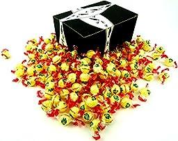 Napoleon Lempur (Lemon) Hard Candy, 2 lb Bag in a BlackTie Box
