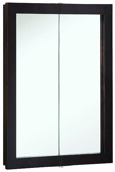 Design House 541334 24-Inch by 30-Inch Ventura Bi-View Medicine Cabinet, Espresso