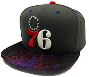 Mitchell & Ness Philadelphia 76ers NBA Vintage Grey Crown with Splatter Visor... by Mitchell & Ness