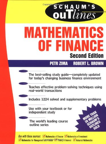 Schaum's Outline of  Mathematics of Finance (Schaum's Outline Series)