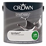 Crown Breatheasy Paint - Spotlight (Grey) - Silk Emulsion - 2.5L
