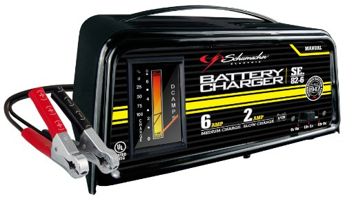 Schumacher SE-82-6 Dual-Rate 2/6 Amp Manual Battery Charger (Car 12v Battery Charger compare prices)