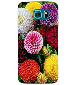 SAMSUNG GALAXY S6 FLOWERS Back Cover by PRINTSWAG
