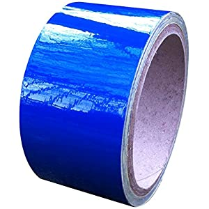 Reflective Tape Blue 50mm X 10M - Weatherproof Strong
