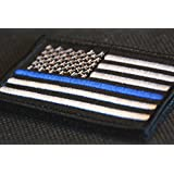 KM Outfitters® USA Flag Thin Blue Line - Patch