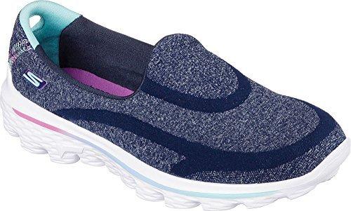 Skechers Girls Go Walk - Super Sock Loafer Navy Size 1.5 M US Little Kid (Skechers Go Walk Super Sock compare prices)