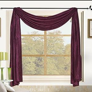 sherry crushed satin window scarf 52 x 216