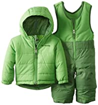 Columbia Unisex-Baby Infant Double Flake Reversible Set, Dark Backcountry, 6-12 Months