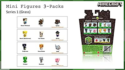 Minecraft Collectible Figures Pig, Creeper & Skeleton 3-Pack, Series 1 from Mattel