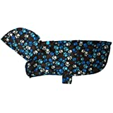 RC Pet Products Packable Dog Rain Poncho, Pitter Patter Chocolate, Large