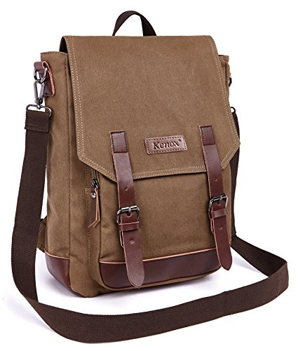 Kenox Vintage High School Canvas Backpack School Bag Travel Bag Laptop Bag 1