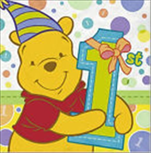 Winnie the Pooh Boy or Girl 1st Birthday Large Napkins (16ct)