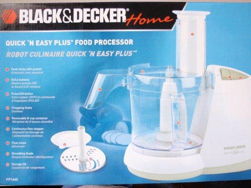 Black & Decker FP1445 Quick 'N Easy PLUS Food Processor with Flow Chute (8-Cup, 450 Watt)