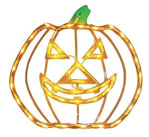 Impact Innovations Halloween Lighted Window Decoration, Jack