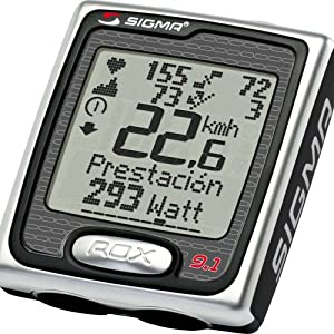 Sigma Rox 9.1 Multi Function and Heart Rate Computer - Black/Silver