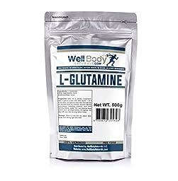 WellBodyNaturals Pure L-Glutamine Powder (500 grams)