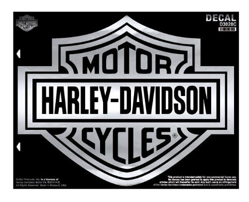 Harley-Davidson¨ XL Bar & Shield Decal. Extra LaRge Size. Chrome Color. D3028C (Harley Davidson Decal Large compare prices)