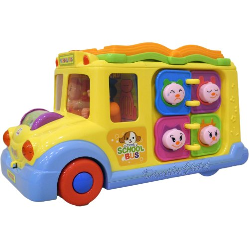 Dimplechild Fun Learning Activity School Bus W/ Lights & Sounds Dc5008