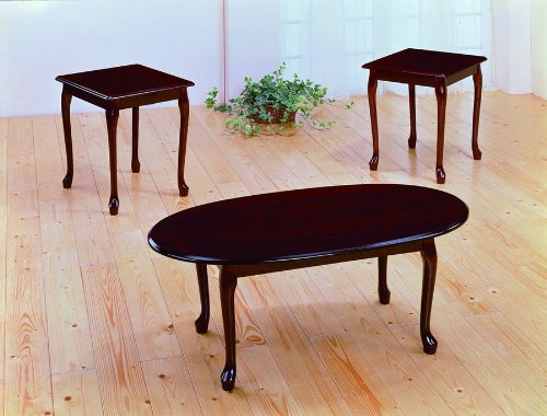 Buy Low Price 3pcs Queen Anne Style Black Gold Finish Coffee Table Set Vf Am2075bg Coffee