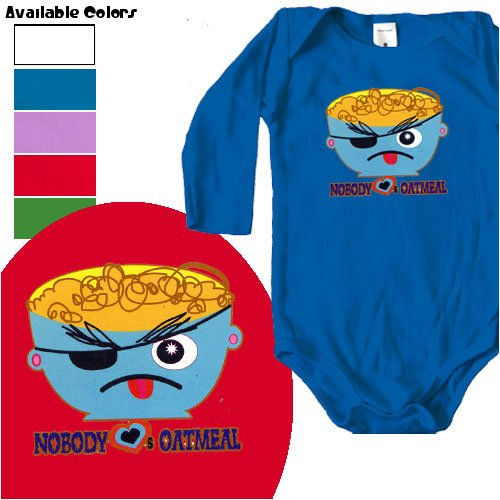 Nobody Loves Oatmeal one-piece - Buy Nobody Loves Oatmeal one-piece - Purchase Nobody Loves Oatmeal one-piece (FocoLoco, FocoLoco Apparel, FocoLoco Toddler Boys Apparel, Apparel, Departments, Kids & Baby, Infants & Toddlers, Boys, One-Pieces & Rompers)