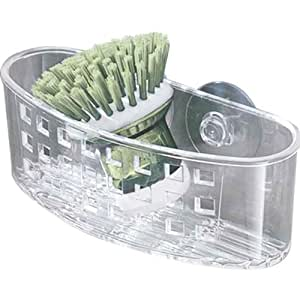 InterDesign Suction Sponge and Scrubber Center, Clear
