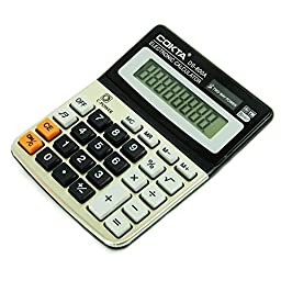 Stationary Station Business and Office Electronic Calculator, with Sound Tilted Screen for Easy Reading