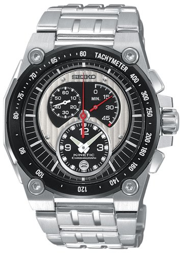 Seiko Men'S Snl053 Mechanitech Kinetic Chronograph Watch