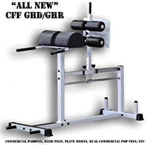 CFF Glute Ham Developer - GHD-GHR - Great For Cross Training - White -For Commercial... by Christian