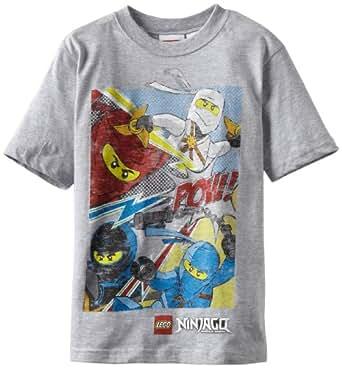 Lego Ninjago Big Boys' Short Sleeve Tee, Gray Heather, 10