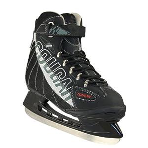 American Athletic Shoe Senior Cougar Soft Boot Hockey Skates, Black, 13