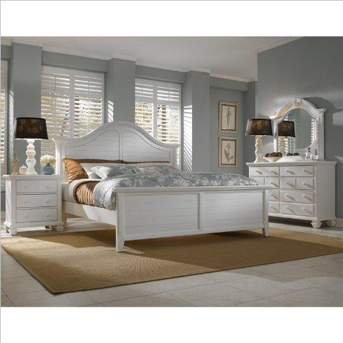 Broyhill Mirren Harbor Arched Panel Bed 4 Piece Bedroom Set