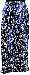 COTTON BREEZE Women's Cotton Skirt(Fp273, Blue)