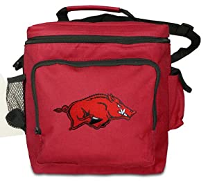University of Arkansas Large Lunch Bag Red Arkansas Razorbacks - Soft Style Large Lunchbox Official NCAA College Logo Merchandise