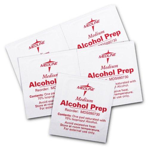 1000 pc Medline stériles alcool Prep Pads