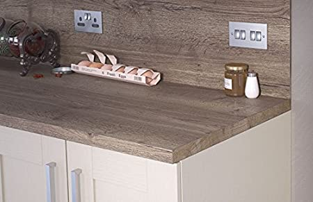 Egger Square Edge Tobacco Halifax Oak Wood Effect Kitchen Bathroom Laminate Worktop Offcut Work Surface 38mm Breakfast Bar - 1m x 920mm x 38mm Breakfast Bar