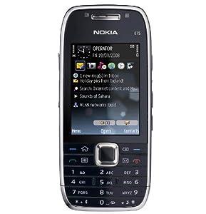Nokia E75 Unlocked Phone with 3.2 MP Camera, 3G, Wi-Fi, GPS, Media Player, and 4 GB MicroSD Card(Silver Black)