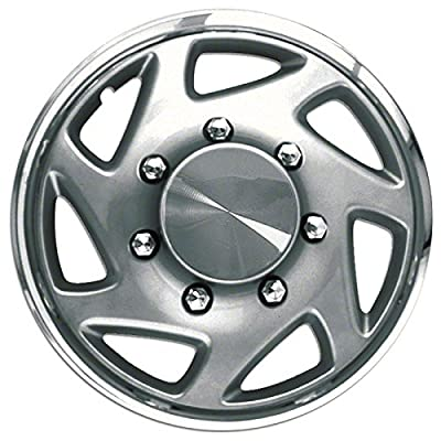 1995-2004 Ford Ranger 16 Inch Silver W/ Chrome Edge Clip-On Hubcap Covers (Set of 4)
