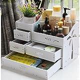 メイクボックス コスメボックス ジュエリー ボックス アクセサリー ケース 収納 雑貨 小物入れ 化粧道具入れ 化粧品収納 便利 (ホワイト)