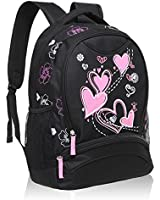 Hynes Eagle Girl's Lightweight Sweetheart Patterns School Backpack