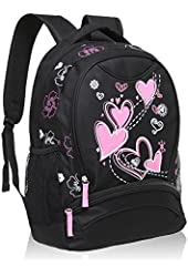 Hynes Eagle Girl's Lightweight Polyester Patterns Back to School Backpacks