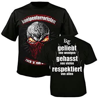 KNEIPENTERRORISTEN - Rock n Roll Outlaws - T-Shirt Größe S (plus Rotlichtparty-CD Gratis)