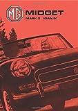 Brooklands Books Ltd Mg Midget Mark 3 (Gan 5): Handbook: Part No. Akd7596 (Owners Handbook)