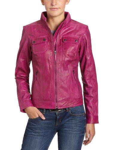 neues Erscheinungsbild Online bestellen aktuelles Styling LERROS Damen Lederjacke, 3277098, Gr. 38, Pink (festival ...