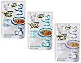 Fancy Feast Broth for Cats Classic Tuna, Shrimp & Whitefish, Creamy Salmon & Whitefish and Classic Tuna & Vegetables, 1.4 Oz Pouch, Pack of 27