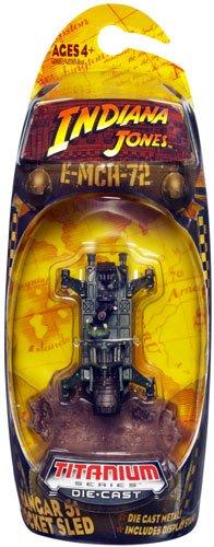 HANGAR 51 ROCKET SLED * Indiana Jones 3 Inch Titanium Series KINGDOM OF THE CRYSTAL SKULL Die-Cast Vehicle - 1